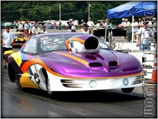 The CCI Motorsports Firebird On A Winning Pass at Cecil County Dragway