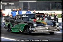The Pro Modified CCI Motorsports 1957 Buick Special On A Winning Pass At The Shakedown At E Town 2008
