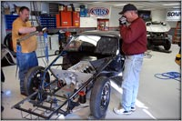 The Alchol Hemi Block Beginning to be removed at CCI Motorsports