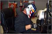 Frank Patille Welding Action At Frankie's Speed Shop
