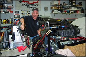 Frank Patille Recovering and back to working on the Buick Pro Mod